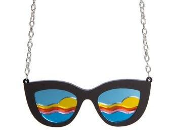 Sunglasses necklace - laser cut acrylic