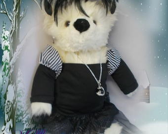 "Steampunk cuddly Teddy Bear  "" Lady Beatrix ""16inches high"