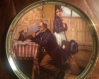 "1986 American Dream ""The Musician's Magic"" Collectible Plate by Norman Rockwell"