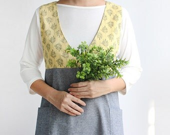 Free shipping Chef Apron Gift for Women Men Japanese Style X Shape Button Cotton Apron H:92cm -2 color