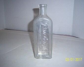 1920's Rawleighs Winona Minn 7 7/8  inch tall clear medicine bottle