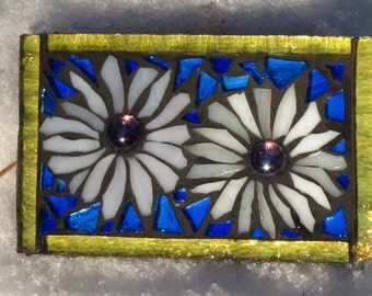 Small Stained Glass Garden Mosaic Tile