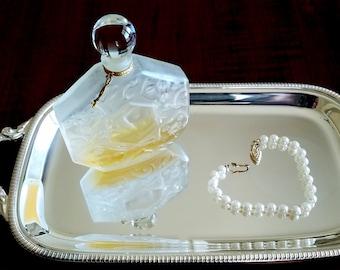 Vintage J.C. Brosseau Perfume Bottle - Ombre Rose, Jean Charles Brosseau Perfume - Original Perfume and Glass Stopper - Made in Paris France