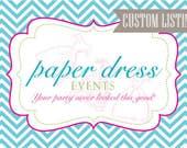 CUSTOM Listing for Anna - Custom Printed Treat bag Tents - Set of 20