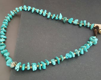 Single Chip Turquoise Necklace