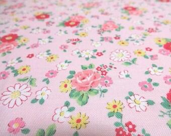 Japanese Fabric YUWA Flower Garden Pink Fat Quarter