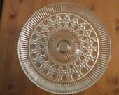 Vintage Federal Glass Windsor/Royal Pedestal Cake Plate Stand