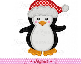 Instant Download Christmas Penguin Applique Embroidery Design NO:2237