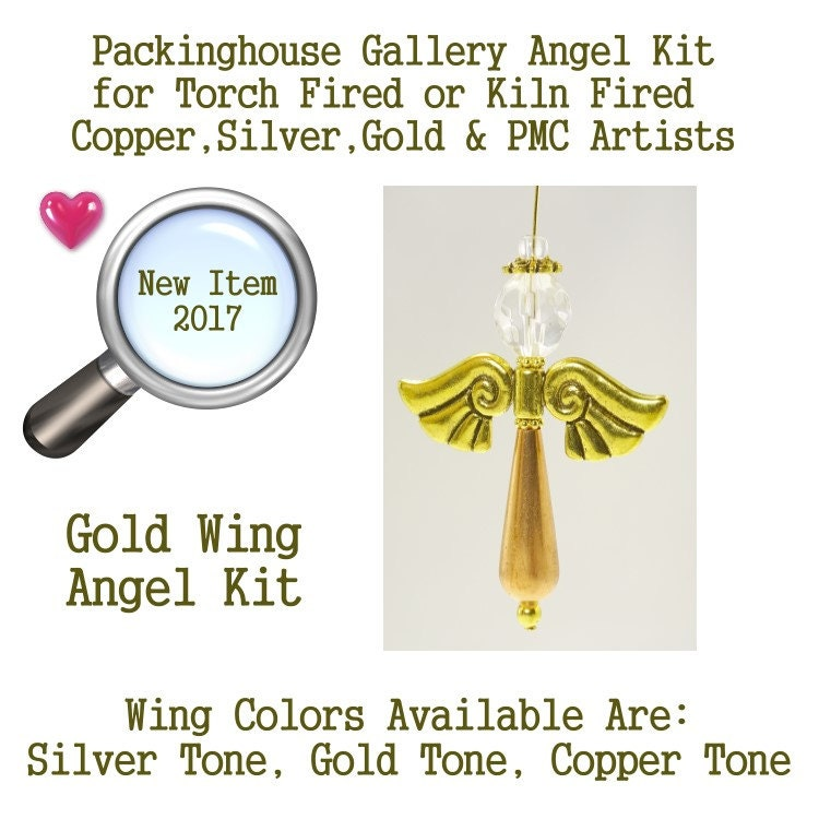 Angel Kit (Gold Wing Color) use it as Angel Necklace, Angel Ornament, Car Angel, Angel Christmas Ornament, Angel Fan Pull, Angel Phone