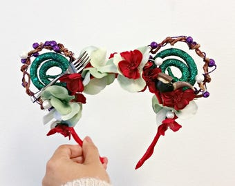 Ariel | Whimsy Ears | Handmade Mouse Ears | The Little Mermaid | Mickey Mouse Ears | Disneyland Love