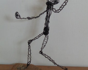 Vintage Mid Century Abstract  Wire Sculpture of Man