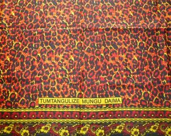 African Kanga Khanga Sarong/Beach Wear/Fabrics For Dresses & Craft making/Cotton Fabrics/Traditional African wear/ Kanga Nzito