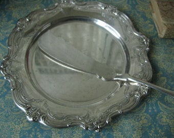 Antique Vintage Gorham Silver Plate Bread Plate Cheese Plate Butter Plate Dinner Roll Plate Wedding Gifts Wedding Decorations