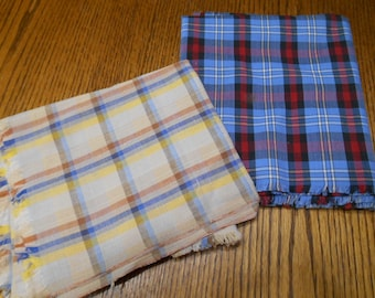 2 Pieces Cotton Plaid Fabric