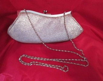 Vintage purse evening silver glittering / Evening stock exchange twinkling money (silver)