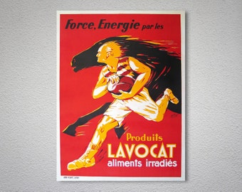 Produits Lavocat Aliments Irradies Vintage Food&Drink Poster - Poster Paper, Sticker or Canvas Print
