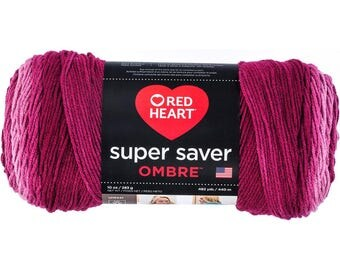 Red Heart Super Saver Ombre Yarn Anemone Color Gradient Yarn