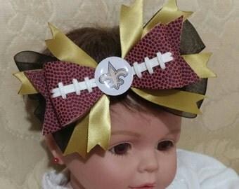 New Orleans Saints football headband
