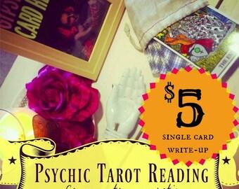 Psychic Tarot Personal Single-Card Write-up