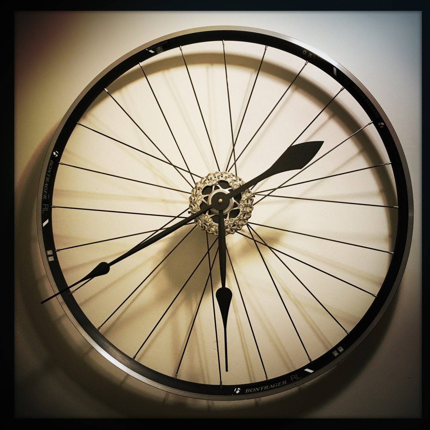 Bike Wheel Clock Large Wall Clock Bicycle by DreamGreatDreams