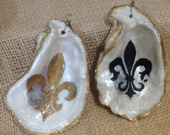 Fleur de lis Oyster Ornaments