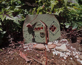 Fairy House Door, Cedar and Acorn