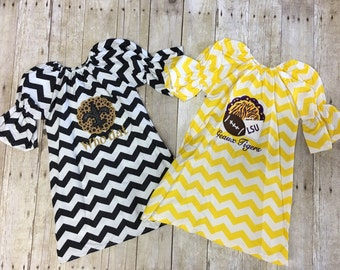 Chevron football dress