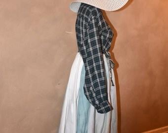 Prairie Dress, Recycled Shirt Dress, Gypsy Dress, Hippie Dress, Festival Dress, Bohemian Dress, Boho Dress, Greenery, Handmade, Upcycle