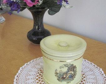 Denby Lemon glazed pottery  Storage Jar and lid c1960's
