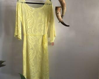 Women's So Lemon Lace Dress.Size 10 to 14.