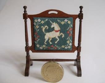 Unicorn doll's house firescreen KIT