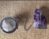 Custom order for Amber - amethyst gemstone tea infuser