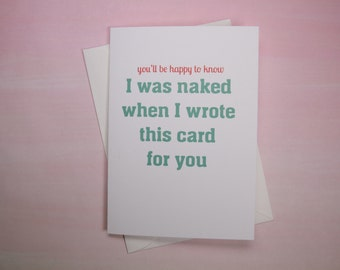 """Funny Card for Friend, Sexual Card - """"Happy to Know"""""""