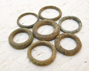 Antique Rings - Archaeological Finds - set of 7 - a13