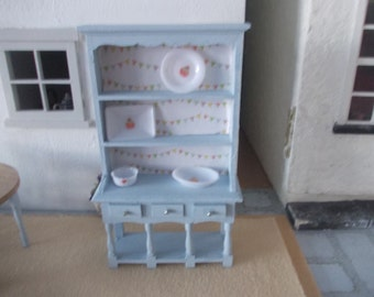 Dolls house  dresser hutch hand painted Blue