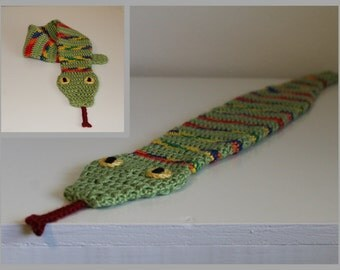Silly Snake Scarf Crochet Pattern ... Instant Download