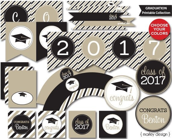 It's just a picture of Ambitious Printable Graduation Decorations