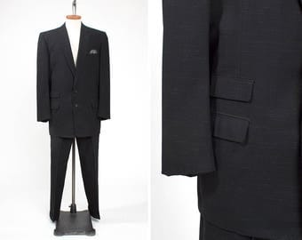 1950s Men's Gabardine Bold Look ATOMIC FLECK Pace Setter Suit by Raleigh // Rockabilly // Hollywood // Dandy