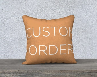 """Custom pillow cases - Perfect for gifts, bridal shower, wedding gifts. Available on 18""""x18"""", 22""""x22"""", 24""""x12"""", 20""""x14"""" & 26""""x20 pillow cases"""