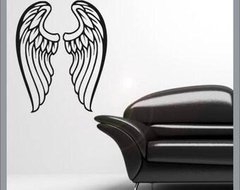 Angel wings vinyl wall decal stiker
