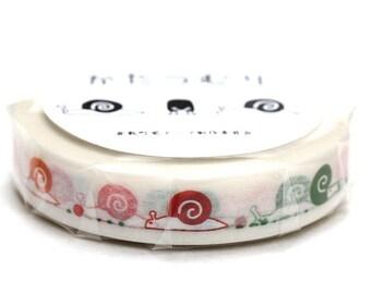 nyochiku Kurashiki Washi Masking Tape   snails  Limited Edition