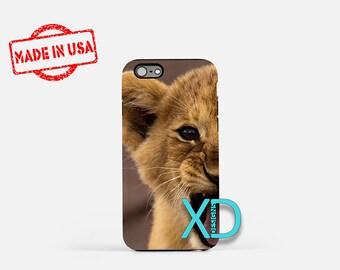 Lion Cub iPhone Case, Animal iPhone Case, Lion iPhone 8 Case, iPhone 6s Case, iPhone 7 Case, Phone Case, iPhone X Case, SE Case Protective