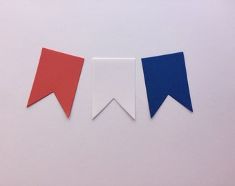 50 die cut banners, Pick a color, Party supply, Garland making supplies