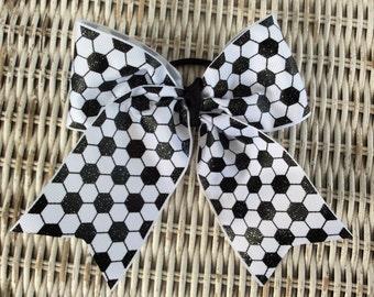 Soccer Hair Bow - Girls Soccer Hair Accessory - Cheer Bow - Hair Accessory - Soccer Gift -