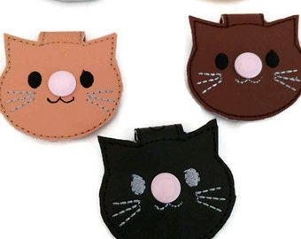 Cute cat cord holder, earbud holder, cat cord holder, headphone holder, cord keeper, mom gift, dad gift, tween