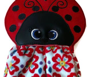 lady bug kitchen towel holder, towel topper