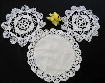 Three Lace Doilies