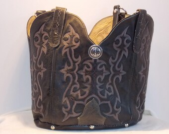 Black Tony Lama George Strait boot purse