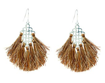 Silver tassels earrings Résidence