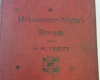 1903 A Midsummer Night's Dream - Vintage Hardcover Book - Shakespeare